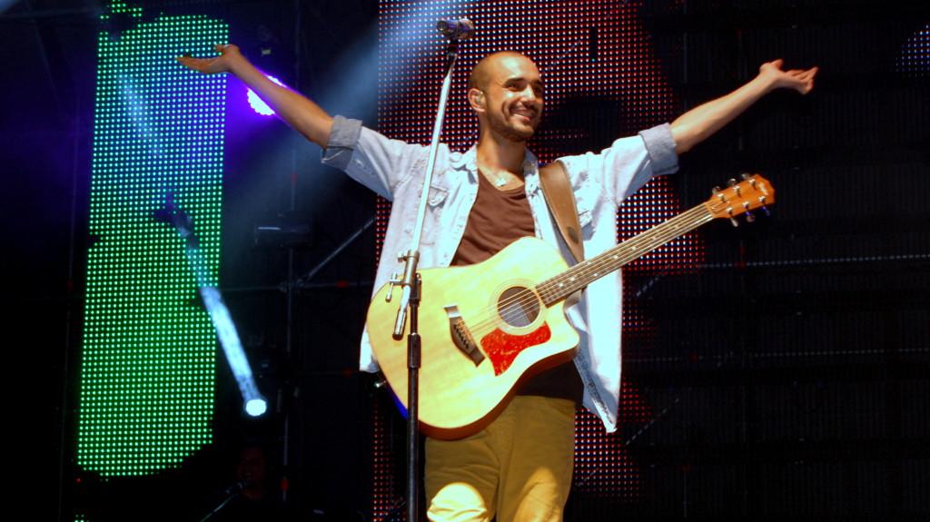 Abel Pintos en Rivadavia Canta al Pais 2014 - Foto: Mayra Pereira.-