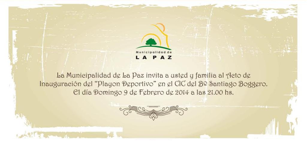 Se inaugurará en La Paz un nuevo espacio deportivo