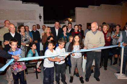 Quedaron inauguradas las calles Uruguay y Cadetes Chilenos de Rivadavia