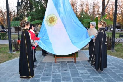 Rivadavia rindió homenaje al creador de nuestra Enseña Nacional