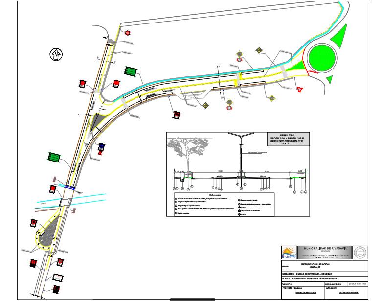 Planimetría - Obra de refuncionalización de Ruta 67