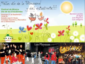 Los estudiantes de La Paz celebran su día con una gran fiesta