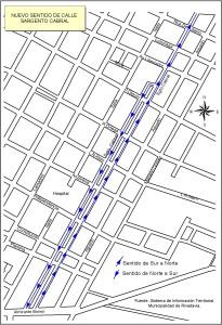 Sentido calles Sargento Cabral