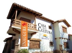 Acto de inauguración de la Casa de la Cultura en Rivadavia