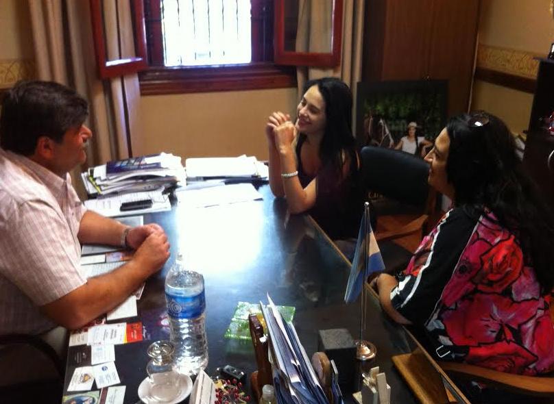 Rocío visitó al intendente Mario Abed