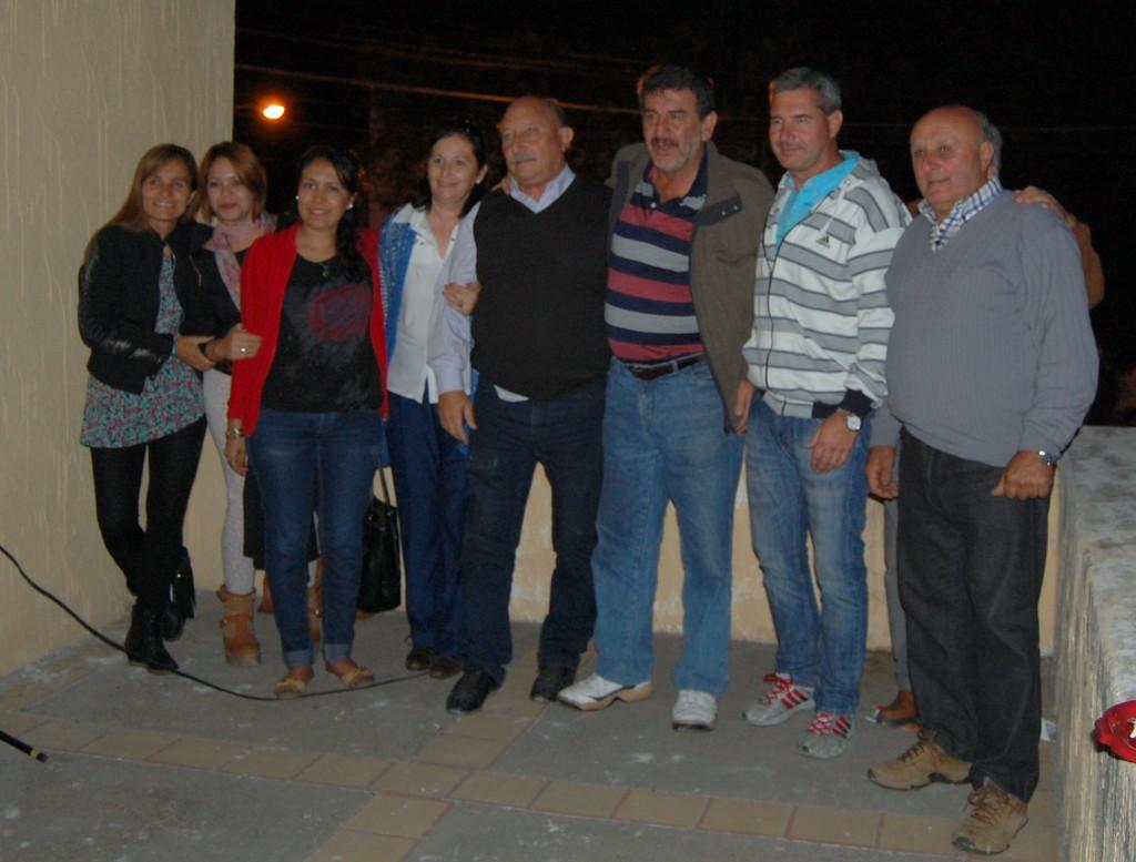 Miguel Ronco y concejales