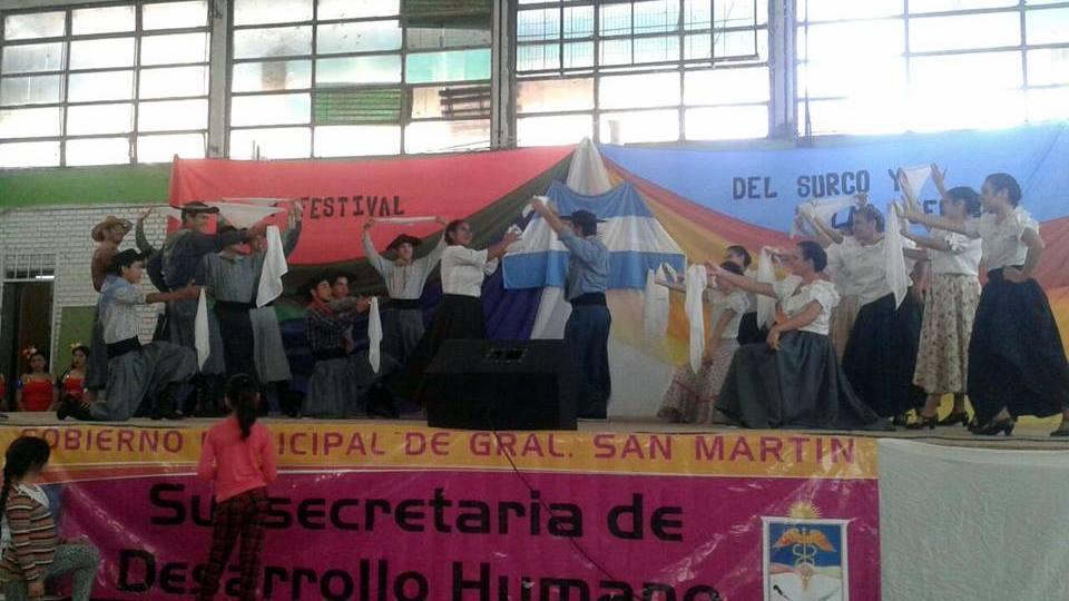Con la organización del Conjunto Danzar del Alma y el Auspicio Del Gobierno Municipal de Gral. San Martín, se realizó el fin de semana 09 y 10 de Mayo el Cuarto Festival Nacional e Internacional del Surco y las Acequias 2015.