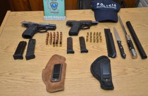 Dos detenidos en La Paz por portación ilegal de armas