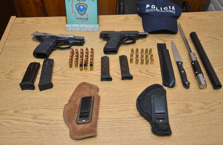 Fueron detenidos en La Paz por portación ilegal de armas