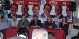 """""""Cambia Mendoza"""" dio a conocer en Rivadavia la lista definitiva de candidatos"""