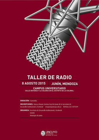 Taller de radio arte y producción radial creativa en el Campus de La Colonia