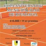 """Se disputará la """"Copa Aniversario Municipalidad de Rivadavia 2016"""""""