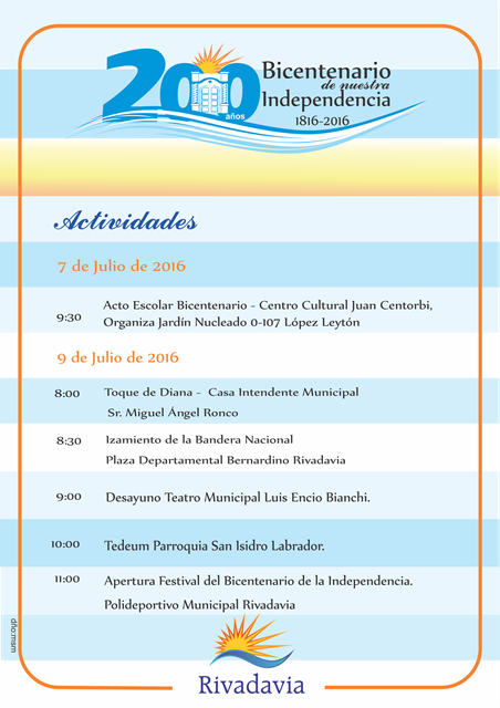 Actividades en conmemoración del Bicentenario de la Independencia