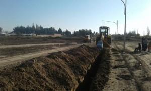 Continúan las obras para el servicio de agua potable en Rivadavia