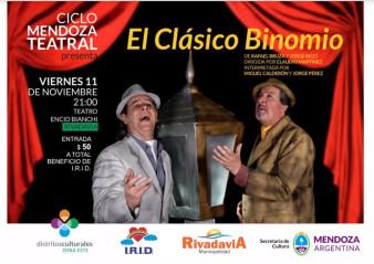 """""""El Clásico Binomio"""" llega al Teatro Bianchi"""