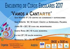 Encuentro de Coros Escolares 2017, Vamos a CantArte