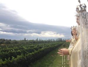 La Virgen de La Carrodilla finalizará su recorrido en Rivadavia