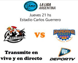 Rivadavia saldrá otra vez por DeporTV