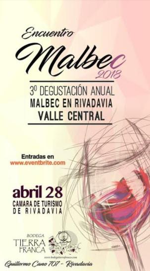 3° Degustación Anual Malbec en Rivadavia
