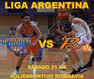 Rivadavia recibe este sábado a Petrolero