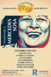 Homenaje a Mercedes Sosa en el Cine Ducal de Rivadavia