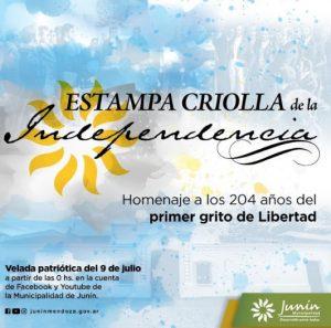 El próximo jueves 9 de Julio, Junín presentará una velada de gala «Estampa criolla de la independencia»
