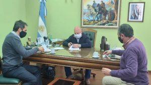Se firmó un convenio entre el Municipio y AYSAM