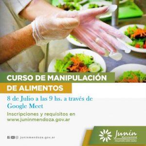 En Julio, nuevo curso virtual de manipulación de alimentos